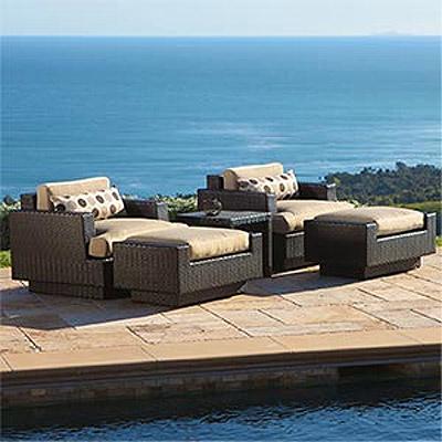 Portofino Sofa, Portofino Club Chair with Ottoman and Table - 2 pack ...