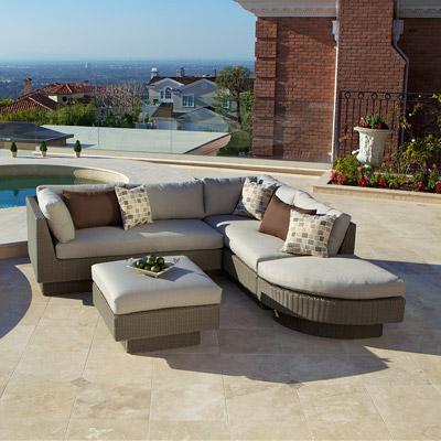 New Portofino Grey Signature 4pc Sectional Outdoor Furniture Store